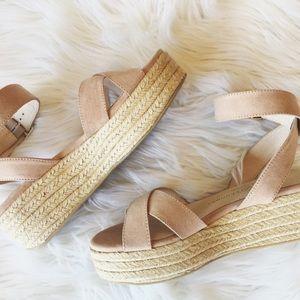 Platform suede shoes!